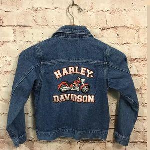 Harley Davidson Denim Jacket 8 10 Kids Boys Jean